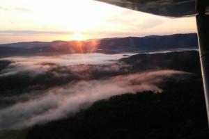 Letecky: Inverze po Valašsku. Nádherná, ale zrádná