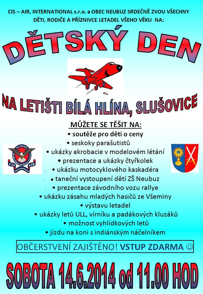 Dětský den na letišti SOBOTA, 14 ČERVEN 2014