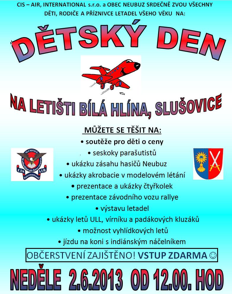 Dětský den na letišti NEDĚLE, 02 ČERVEN 2013